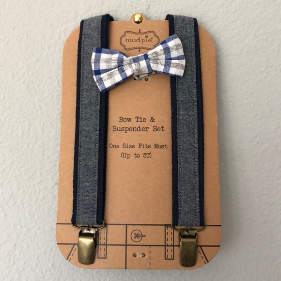 e30cfb7230d4 Mud Pie Accessories | Chambray Bow Tie And Suspenders Set | Poshmark